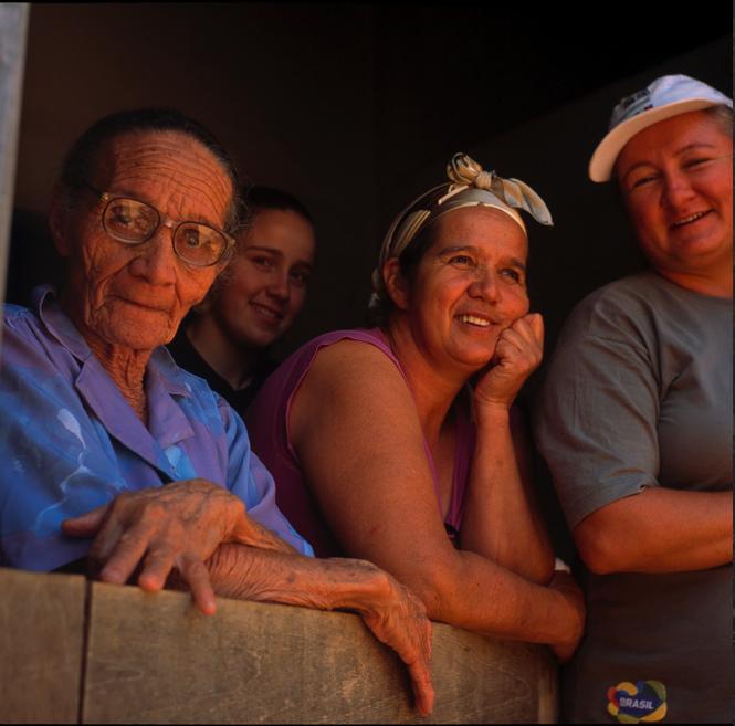 Familia farinhada. Foto Carolina Amorim.